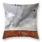 Poppies Dropped  Throw Pillow