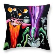 Poppies Fantasy.. Throw Pillow