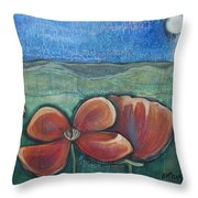 Poppies For Barbara And Paul Throw Pillow