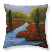 Poppies Guards Throw Pillow by Elena  Constantinescu