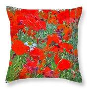 Poppies II Throw Pillow