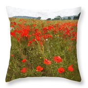 Poppies IIi Throw Pillow