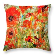 Poppies In The Sun Throw Pillow