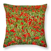 Poppies In Wheat Throw Pillow