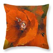 Poppies - Triptych Throw Pillow