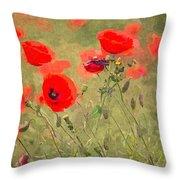 Poppies Viii Throw Pillow