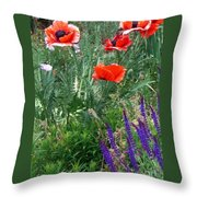 Popping Color Throw Pillow