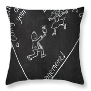 Popping The Question Throw Pillow