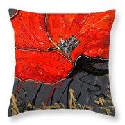Poppy 43 Throw Pillow