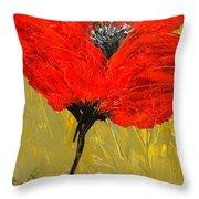 Poppy 46 Throw Pillow