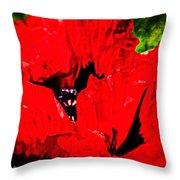 Giant Poppy Art  Throw Pillow