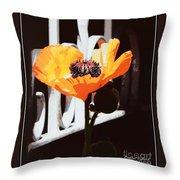 Poppy Art Poster Print Throw Pillow