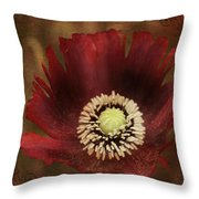Poppy At Days End Throw Pillow