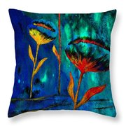 Poppy At Night Abstract 1 Throw Pillow