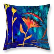 Poppy At Night Abstract 2 Throw Pillow