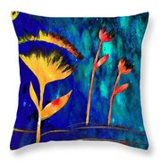 Poppy At Night Abstract 3  Throw Pillow