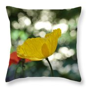 Poppy At The Discoteque Throw Pillow