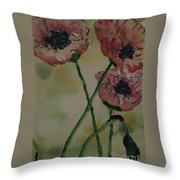 Poppy Breeze A Throw Pillow