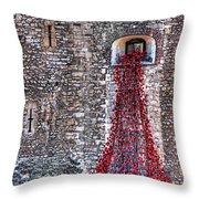 Poppy Cascade Throw Pillow
