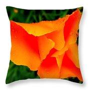Poppy Dew Throw Pillow