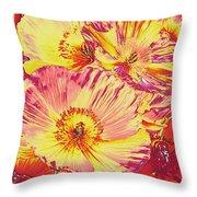 Poppy Extravaganza Throw Pillow