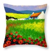 Poppy Field - Ireland Throw Pillow