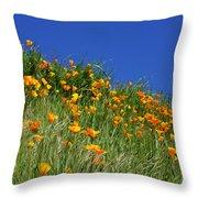 Poppy Flowers Landscape Art Prints Poppies Throw Pillow