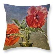 Poppy Flowers Throw Pillow
