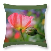 Poppy In Waiting Throw Pillow