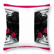 Poppy Jasper Stone Painting With Borders 7 Throw Pillow