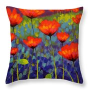 Poppy Meadow   Cropped 2 Throw Pillow