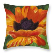 Poppy Number 2 Throw Pillow
