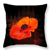 Poppy Passion Throw Pillow