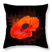 Poppy Passion Square Throw Pillow