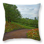 Poppy Path Throw Pillow