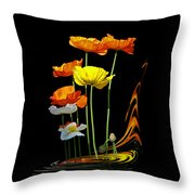 Poppy Pirouette Vertical Throw Pillow