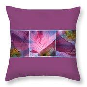 Poppy Rays Collage Throw Pillow