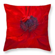 Poppy - Red Envy Throw Pillow