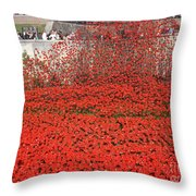 Poppy Tribute Of The Century. Throw Pillow