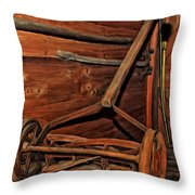 Pop's Old Mower Throw Pillow by Michael Pickett