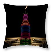 Pops On Route 66 Throw Pillow
