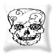 Popskull Throw Pillow
