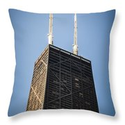 Popular Chicago Hancock Building Skyscraper Throw Pillow