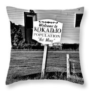 Population Not Many Throw Pillow
