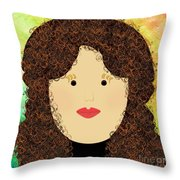Porcelain Doll 1 Throw Pillow