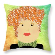 Porcelain Doll 22 Throw Pillow