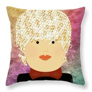 Porcelain Doll 8 Throw Pillow