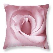 Porcelain Pink Rose Flower Throw Pillow