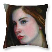 Porcelain Skin Throw Pillow