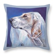 Porcelaine Hound Throw Pillow